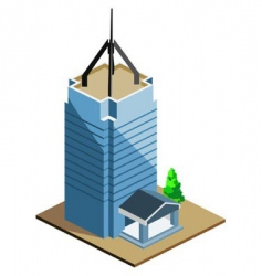 tall building vector image vector image