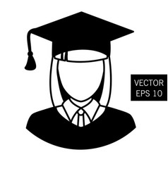 teacher graduation icon tutor icon vector image