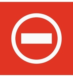 The stop icon Danger and warning symbol Flat vector image vector image