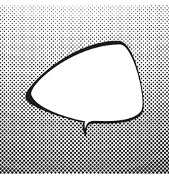 Triangular speech bubble on pop art background vector