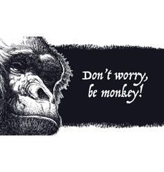 Urban gorilla poster vector image vector image