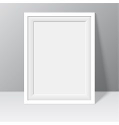 white frame for paintings or photographs vector image vector image