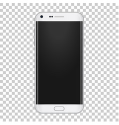 White realistic moder phone with camera volume vector