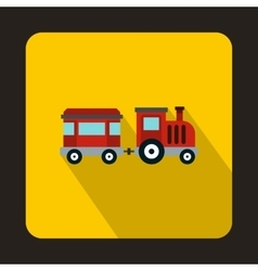 Children train icon flat style vector