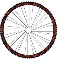 Bike wheel - on white background vector image