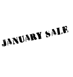 January sale rubber stamp vector