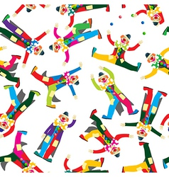 Clown pattern vector