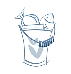 A bucket vector image