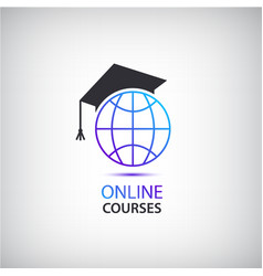 Internet learning teaching online courses vector