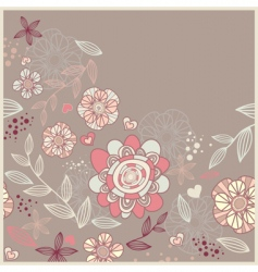 cute card with flowers vector image