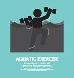 Black symbol aquatic exercise vector