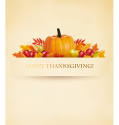 Retro happy thanksgiving background vector