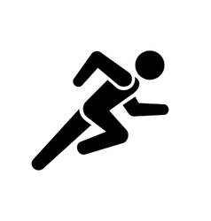 Running man icon on white background vector