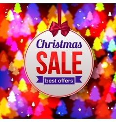 Christmas sale best offers paper banner on shining vector