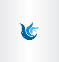 Abstract blue logo wave water symbol vector