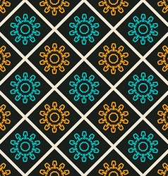 Colorful ornament pattern tile vector image