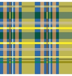 Tartan blue and yellow seamless pattern vector