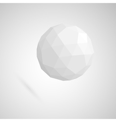 Abstract white sphere made of geometric shapes vector image