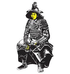 An hand drawn from japan culture - samurai shogun vector