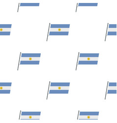 Argentina flag pattern seamless vector