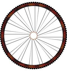 Bike wheel - on white background vector image vector image