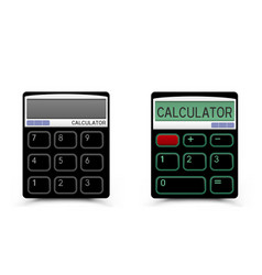 black calculator icon vector image vector image
