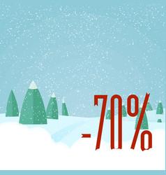christmas sale card winter holidays vector image