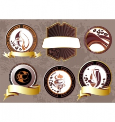 coffee break design elements vector image