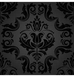 Damask Seamless Dark Pattern vector image