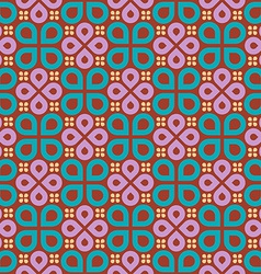 Floral drops geometric seamless pattern vector image