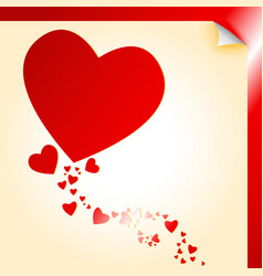 Heart shape decal vector image
