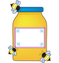 honey pot vector image vector image