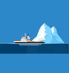 iceberg and ship vector image