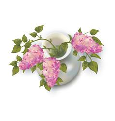 Lilacs in vase vector