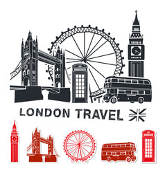 london travel vector image