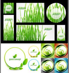 mega set of green summer nature concepts vector image
