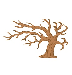 Old brown tree vector