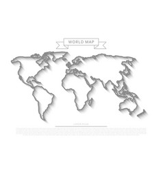outlines world map vector image vector image