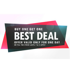Sale banner design in red and black geometric vector