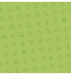 Seamless background pattern for technology vector