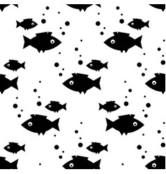 seamless pattern with fish in the scandinavian vector image