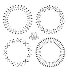 Set of arrows frames Hand drawn doodles Sketch vector image vector image