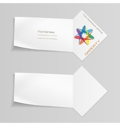 Set of banners with logo paper labels for your vector