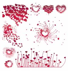 Set of Valentine's design elements vector image vector image