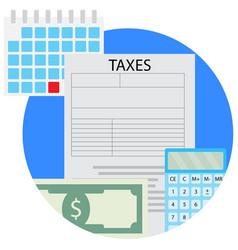 Taxacation icon vector