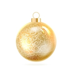 The Christmas ball vector image