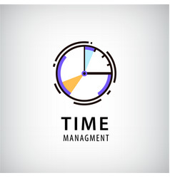 time managment logo vector image vector image