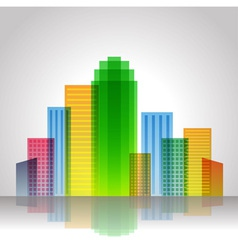 Urban city color vector