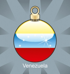 Venezuela flag on bulb vector image vector image