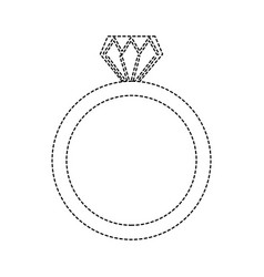 wedding ring icon diamond ring jewelry vector image